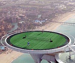 The world's highest tennis court