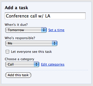add a task