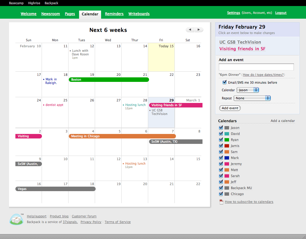 how to create a calendar in html and css