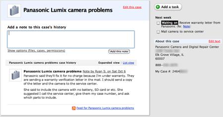 broken camera case