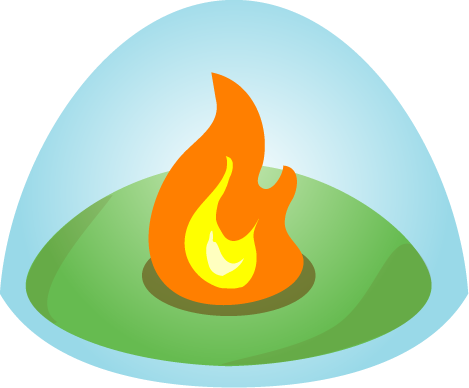 Campfire logo for fluid