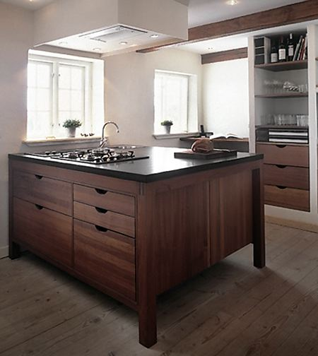 a minimalist natural roach to kitchens from hansen living - Kitchen Cabinets With Legs
