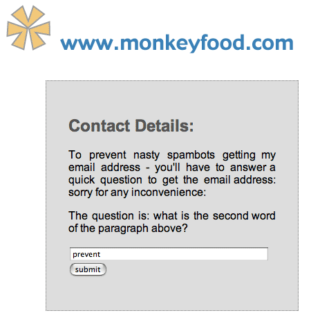 spam prevent