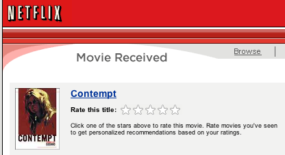 rate movie via email