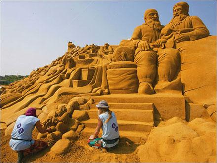 Belgian sand sculptures