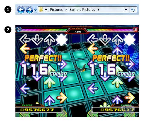 Windows 7 Explorer vs. Dance Dance Revolution