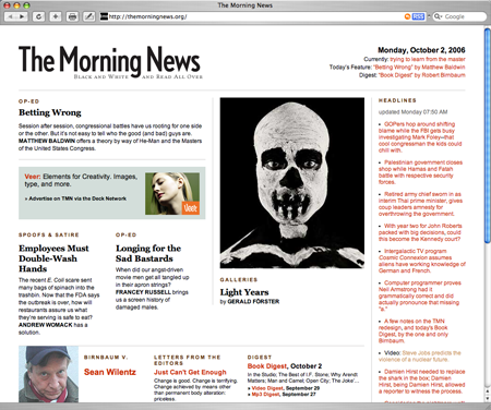 the morning news redesign